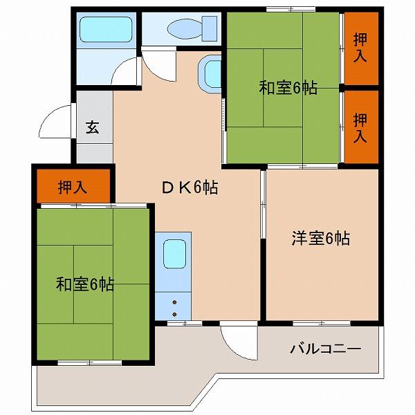 押川コーポ(301)