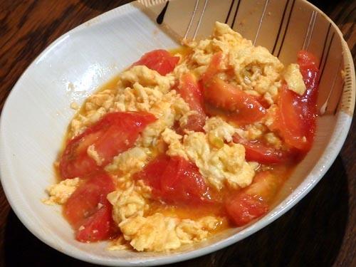 36トマト玉子炒め
