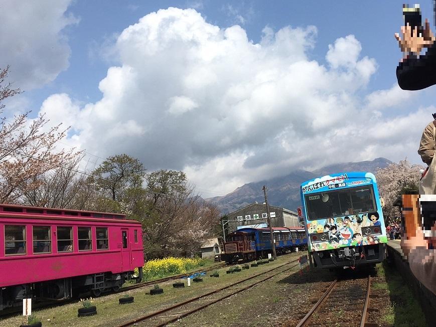 3電車来た