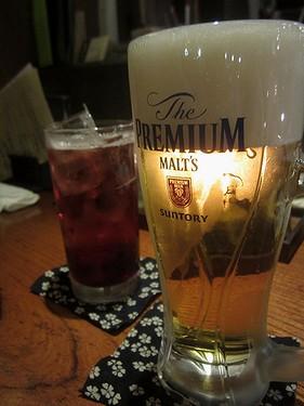 20170609串工房 (2)ビール&カシス