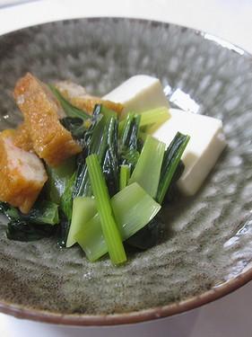 20170614 小松菜とさつま揚げ煮びたし