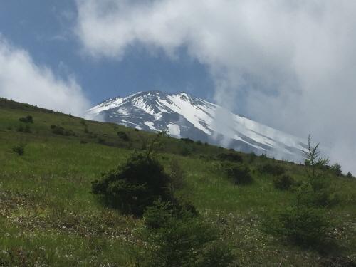 二ツ塚の向こうの富士山