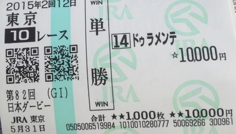 【日本ダービー】お前らのダービーDayの軍資金