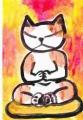 5猫の座禅