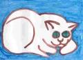 5熊谷守一の猫ニャーン (1)