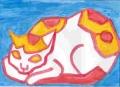 5熊谷守一の猫ニャーン (2)