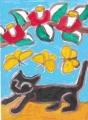 5熊谷守一猫のいる絵 (2)