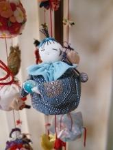 手芸●座り人形袋[つるし雛の細工物] (3)