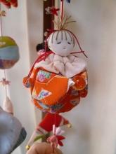 手芸●座り人形袋[つるし雛の細工物] (4)