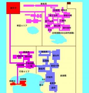 聚楽第本丸拡大図(3D京都)