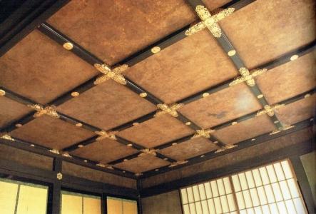 飛雲閣二階歌仙の間の格天井