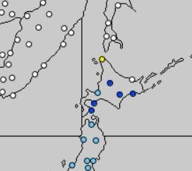 20170507黄砂速報図(気象庁)