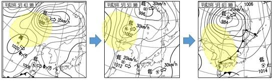 20170508:黄砂と天気図変化