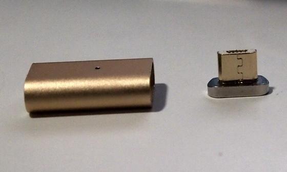 マグネット式microUSBセット