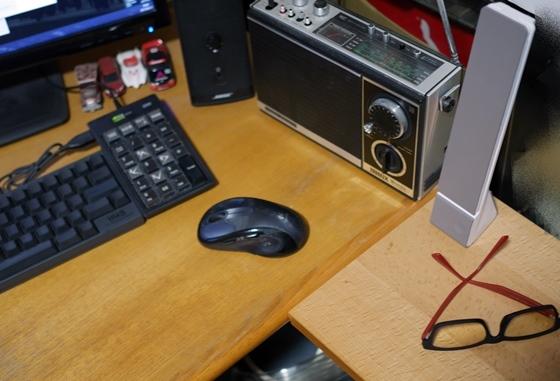 充電式デスクライト定位置