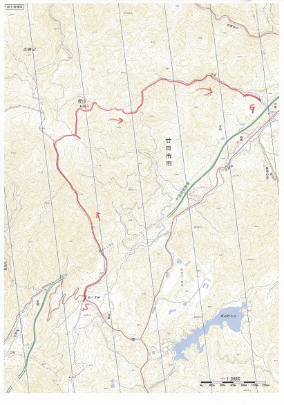 吉和冠山ルート図