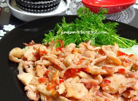 なんとなく05-01 今日のメインは 鶏むね肉スライスの桜塩&梅のオリーブ焼き4