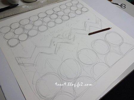 クッション絵を描くというより 作業的な感じ 2