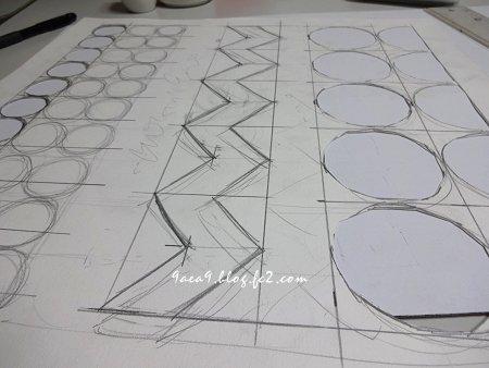 クッション絵を描くというより 作業的な感じ 3