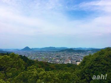 金比羅山さんからの風景。ここちよい風がふいてました。