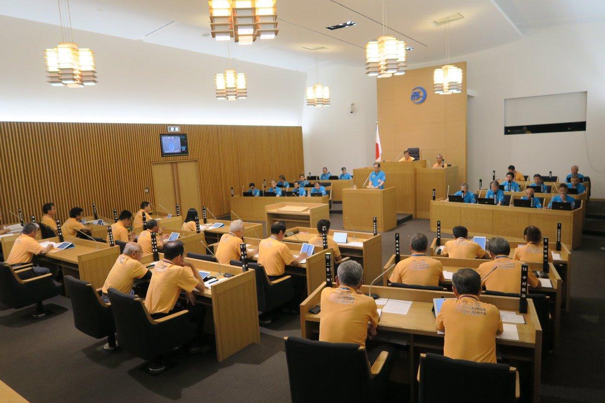 愛媛県西予市会議員光景