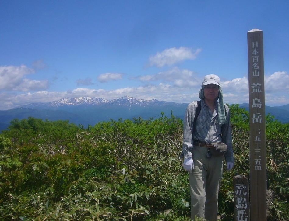 荒島岳頂上から、白山連峰 H29.6.05