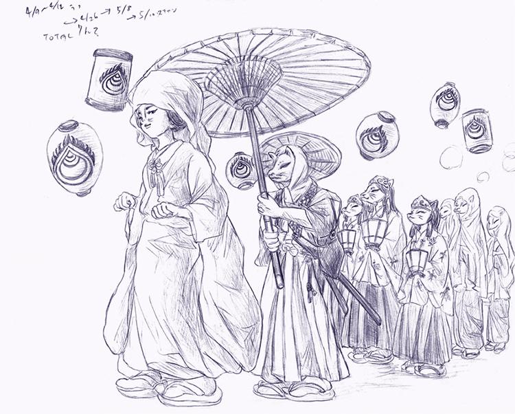 170510津川狐の嫁入り行列