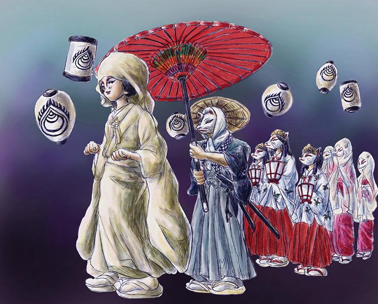 170520津川狐の嫁入り行列
