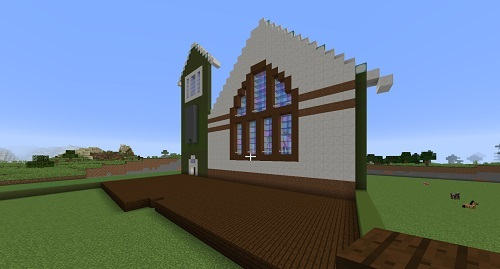 C建築教会2重ハリボテへ