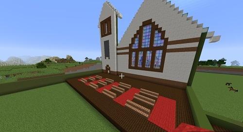 C建築教会椅子を追加