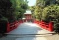 朱塗りの橋の向こうが楼門