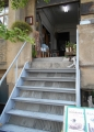 喫茶店に上がる階段