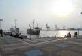サンタマリア号の入港(サンセット広場より)