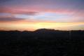 展望室から見る西の空