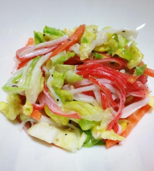 カ二カマとキャベツのサラダ B