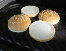 ハンバーガー 調理⑤
