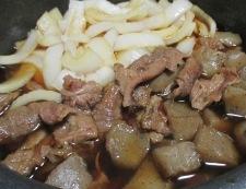 牛すじと新玉ねぎの煮物 調理⑤