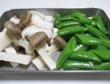 牛肉とスナップエンドウの七味照り焼き 調理①