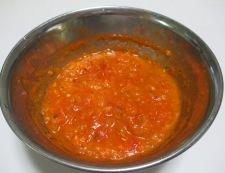ベーコンとアスパラのトマトソースパスタ 調味料