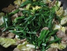 豚こまニラたま炒め 調理⑤