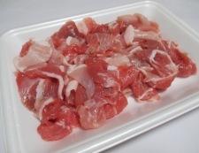 豚こまニラたま炒め 材料①