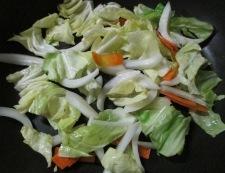 春野菜の焼きうどん 調理③