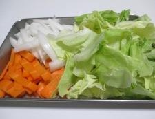 春野菜の焼きうどん 【下準備】②