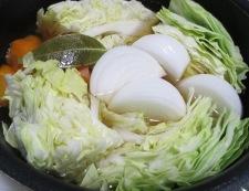 ソーセージと春野菜のポトフ 調理④