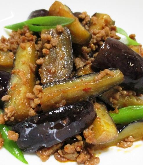 ナスとひき肉のピリ辛炒め 拡大