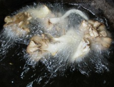 ナスと舞茸の揚げ浸し 調理④