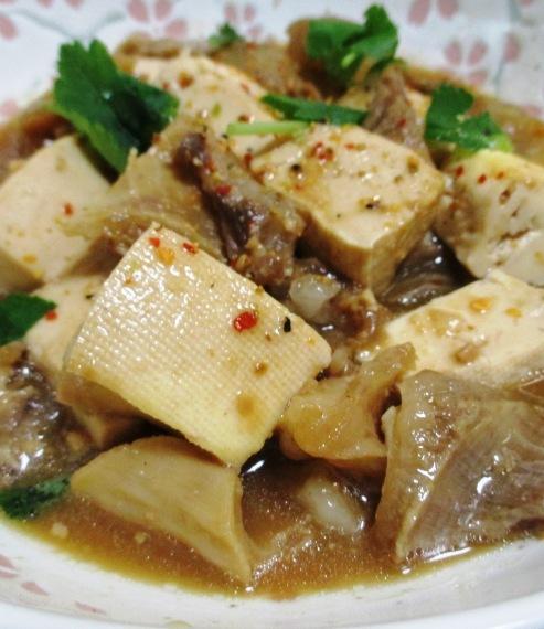 牛すじと豆腐の味噌煮 大