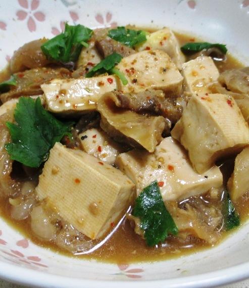 牛すじと豆腐の味噌煮 B