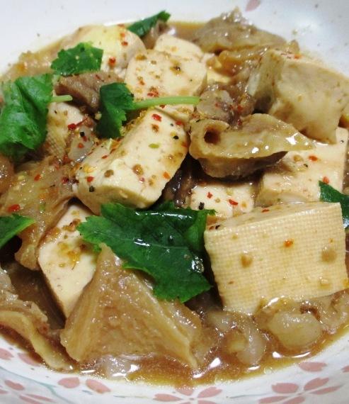 牛すじと豆腐の味噌煮 拡大