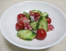 タコとトマトのパクチーサラダ 調理④